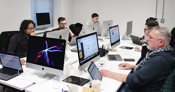 a classroom of students taking it training in london