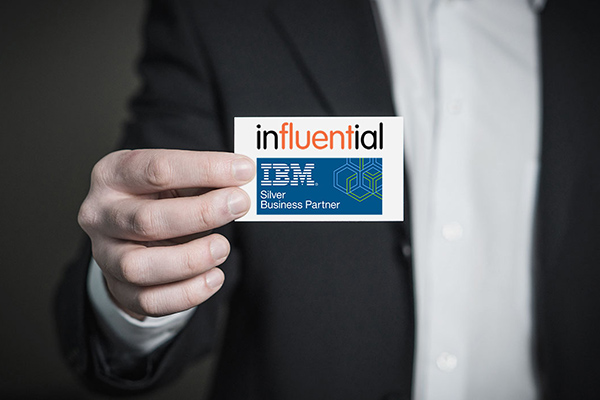ibm cognos courses represented by businessman with ibm card