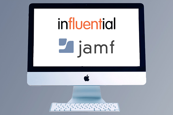 Jamf courses represented by Jamf logo on Apple monitor