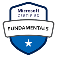 Microsoft Certified Fundamentals badge for Microsoft Azure Fundamentals Course
