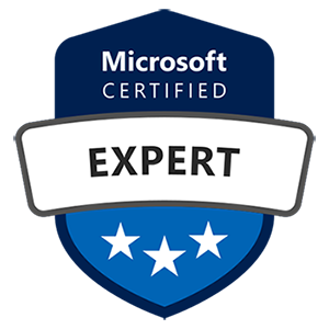 Microsoft Certified Expert badge for Azure security certification training