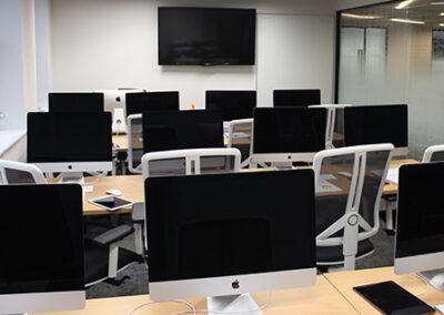 Equipment in our London IT training classroom